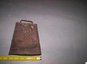 Antique Cow Bell Hand Made One Piece Primitive Rustic And Rusty