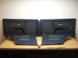 Bmw E30 Coupe Blue Houndstooth Complete Door Panel Set F R 325i 325e 318i
