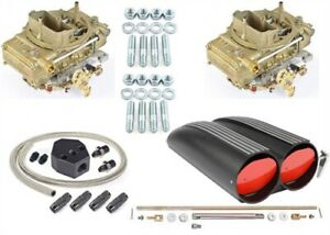 Jegs Performance Products 50064k Scoop Dual Quad Assembly Kit Dual Barrel Blac
