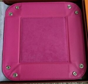Campo Marzio Valet Tray Caddy Hot Pink Italian Leather 45 Bloomingdale s Nib