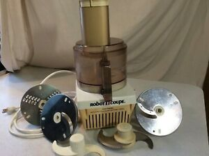 Vintage Robot Coupe Rc2000 Food Processor W Accessories Made In France cuisinart