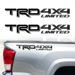 Trd 4x4 Limited 2016 2017 Toyota Tacoma Tundra Truck Pair Decals Stickers Vinyl