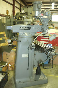 Bridgeport Milling Machine 42 table 2hp Vari Speed Chrome Ways