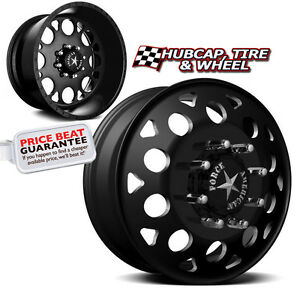 American Force Magnum Set 6 19 5 x6 75 Dually Custom Wheels Rims 8 Lugs Black