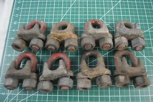 Crosby 7 8 Galvanized G 450 Cable Saddle Clamp Wire Rope Clip Lot Of 8