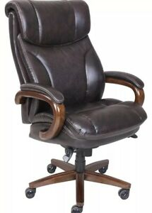 La z boy Trafford Big Tall Executive Bonded Leather Office Chair Vino Brown