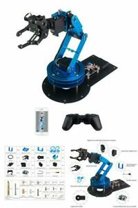 Full Metal Robotic Arm Flexibly Learm 6dof With Servo Controller Wireless Handle