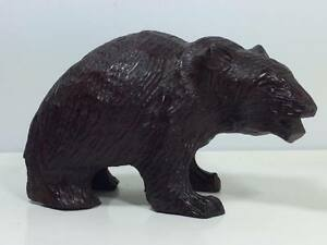 Antique Swiss German Black Forest Wooden Grizzly Bear Carving