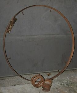 Antique Horse Drawn Wagon Wheel Iron Parts