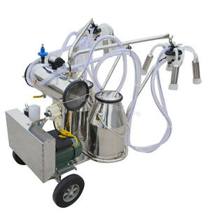 Us double Tank Milker Electric Milking Machine Vacuum Pump For Dairy Cow Cattle