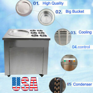 Us commercial One Pan Fried Ice Cream Machine Ice Crean Roll Making Machine
