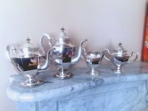 Vintage 950 Sterling Silver 4pctea And Coffee Set Japan