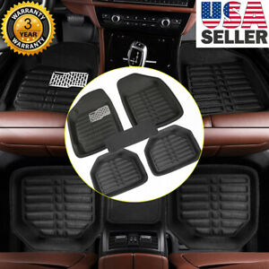 5pcs Universal Car Auto Floor Mats Floorliner Front Rear Carpet All Weather Mat