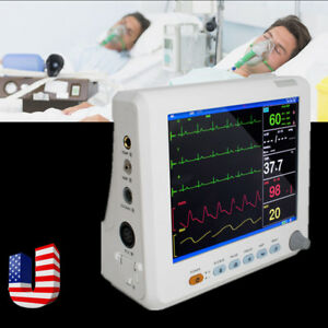 Icu Vital Signs Patient Monitor 6 parameters Medical 8 Inch Patient Monitor Usa