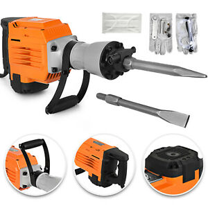 3600w Electric Demolition Jack Hammer Punch W Case Trenching Heavy Duty Pro