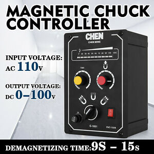 Electro Magnetic Chuck Controller 110v 5a Simple Operate Magnetic Force Display