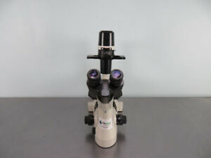 Nikon Eclipse Ts100 Inverted Phase Contrast Microscope With Warranty See Video