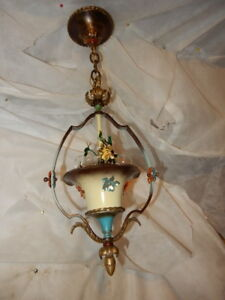 Cast Iron Spanish Revival Arts Crafts Chandelier Fixture