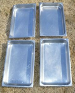 Lot 4 Full Size 2 Deep Stainless Steel Steam Prep Table Hotel Buffet Food Pan
