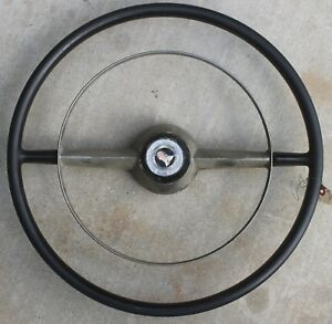 1952 Ford Steering Wheel And Horn Ring Nice Rare