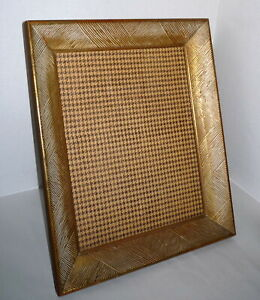 1950 S Large Mid Century 14 X 10 Wood Carved Gold Picture Frame With Stand