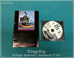 Kingsley Machine M 101 Reference Manual Dvd Hot Foil Stamping Machine