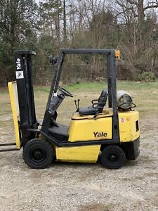 2005 Yale 4000 Forklift Air Pneumatic Tires 2 Stage Lp Glp040