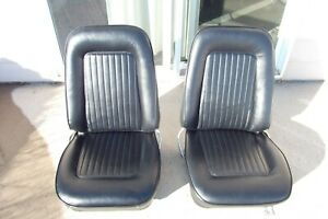 1967 1968 1969 Camaro Firebird 67 68 69 Nice Recovered Bucket Seats And Tracks