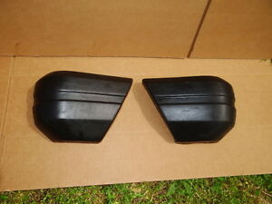 Jeep Cherokee Xj Front Bumper Extension End Caps 1984 96 Oem