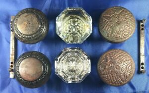 Lot Of Door Knobs Eastlake Victorian Design Doorknob Hardware Collectible