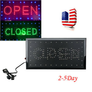 Usa Bright Led Open Closed 2in1 Store Business Sign 9 8 20 47 Display Neon