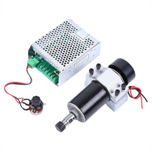 500w Air Cooled Spindle Motor Cnc W Spindle Speed Power Converter 52mm Mount
