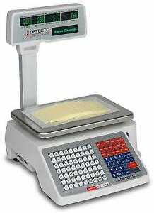 Detecto Dl1030p Deli Scale With Integral Printer Tower Pole Display
