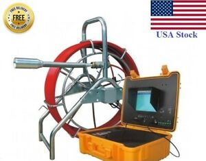 Sewer Drain Pipe 10 Lcd 200 Feet Cable 1 1 2 Self Leveling Camera Feet Counter