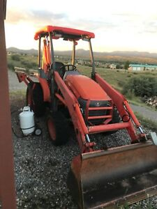 2007 Kubota L39 Backhoe Wheel Loader Tractor 4wd Diesel Engine