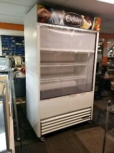 True Tac 48 Open Air Cooler Display Merchandiser With Night Curtain