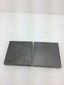 1 X 6 X 6 Steel Bar Plate Bar Thick Plate Blacksmith Bench Hammer 2 Pieces