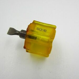 Snap On Tools Screwdriver Sd11b Yellow Hard Handle Flat Tip Carburetor