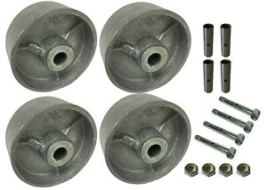 4 Heavy Duty Caster Wheels Set 4 5 6 8 Steel Wheels Set With Bearing