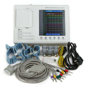 Us 7 12 Lead 3 Channel Electrocardiograph Ecg Machine Ekg Monitor Gift