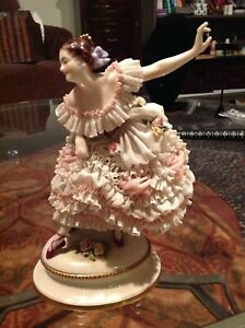 Volkstedt Porcelain Lace Ballerina Perfect