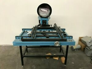Micro Vu 12 X 18 Optical Comparator Digital Read Out Make Great Parts