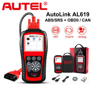 Autel Autolink Al619 Ml619 Abs Srs Airbag Code Reader Obd2 Can Diagnostic Tool