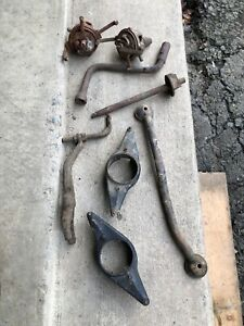 Lot Of Parts For Extra Model A Ford Dizzy Headlight Rod Crank Lot