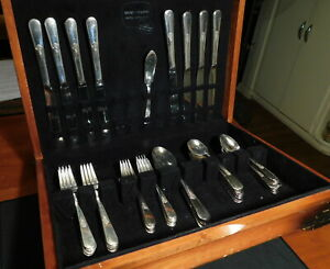 Holmes Edwards Inlaid Is Youth 1940 W Original Box 47 Pieces Silver Plated