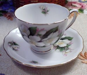 Vintage Royal Vale Fine Bone China Cup And Saucer From England