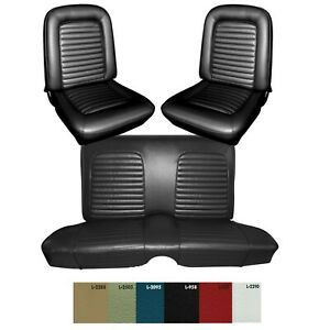 1965 Mustang Fastback F R Seat Cover Upholstery Set Your Color Choice