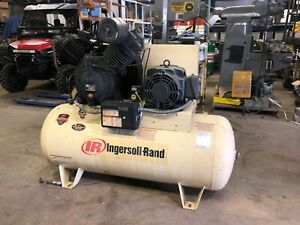 Ingersoll Rand Electric Air Compressor 7100e15 2 Stage 15hp 120 Gal 175psi