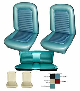 1966 Mustang Fastback Seat Cover Upholstery And Foam Set Your Color Choice