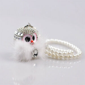 Car Hanging Ornament Cute Owl Rear View Mirror Pendant Decoration Christmas Gift